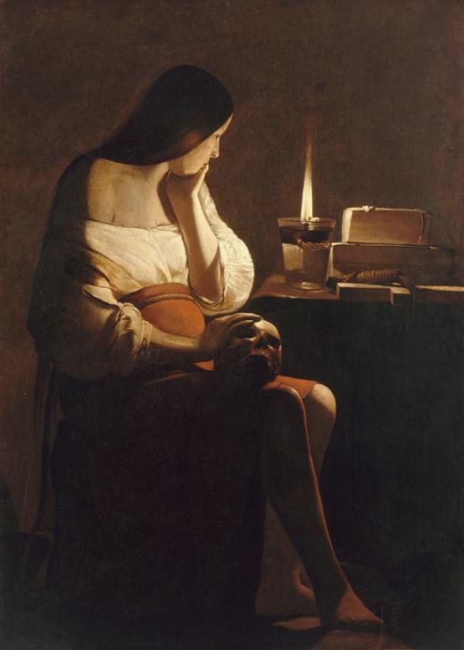 George de La Tour, Magdalena Penitente ó Magdalena Terff, 1642-44, Museo del Louvre.